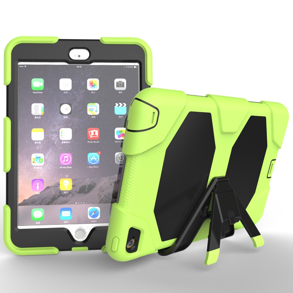 Rugged Shockproof Tablet Case For iPad Mini 4 PC Silicone Hybrid Armor Case With Stand