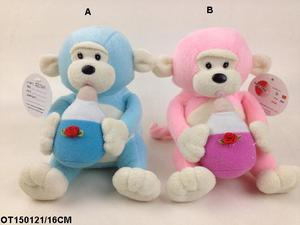 Advertising Good Quality Custom plush monkey with outfits