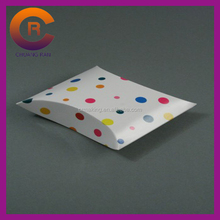 Dots printing white card matte lamination custom pillow pack boxes