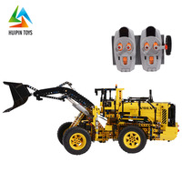China factory 1676PCS building blocks loader plastic rc truck toy for sale
