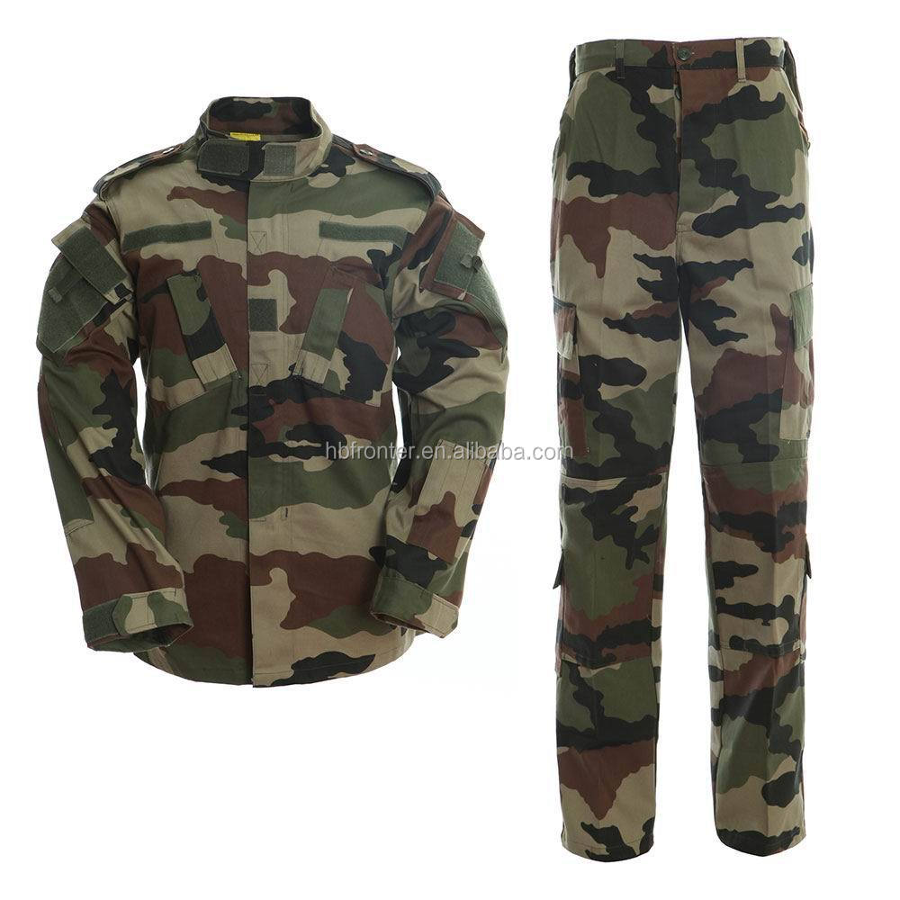 Ripstop ACU style French woodland camo army uniform