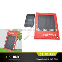 Multi-function solar ad charger with hook design hang on bag,Top efficiency solar ad charger for all kinds mobilephone
