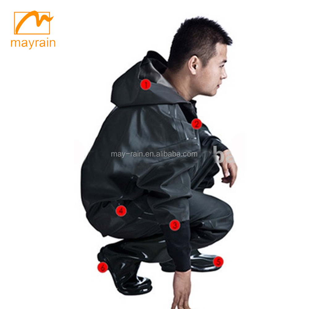 2017 High Quality Polyester PVC Waterproof Motorcycle Rain Suit