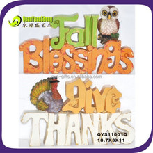 Fall blessing &give thanks harvest decoration letter statue