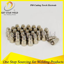 plasma cutting nozzle and electrode/gas cutting set