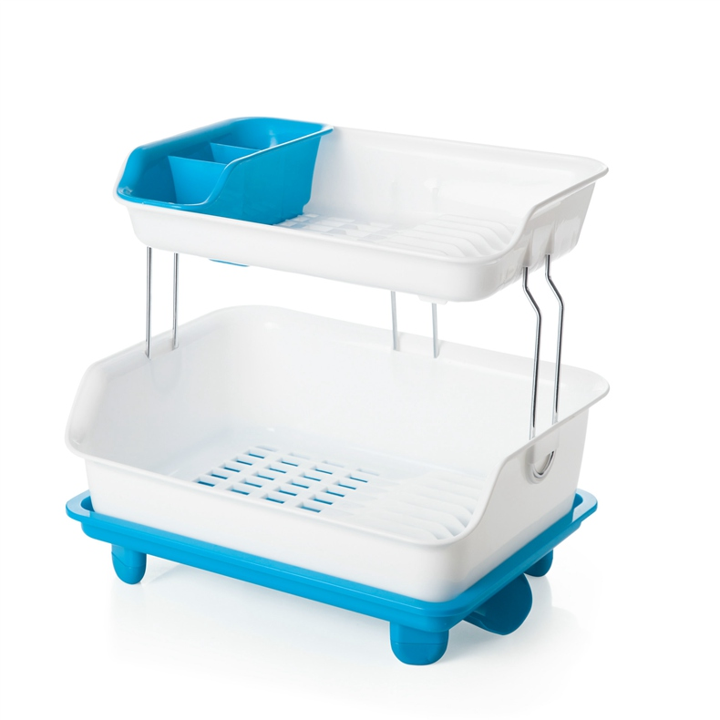 Hot Sale Collapsible Dish Rack With Arms With Drain Board