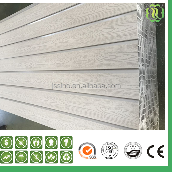 white wpc wall decoration/exterior wall panels/white smart side wood panels /