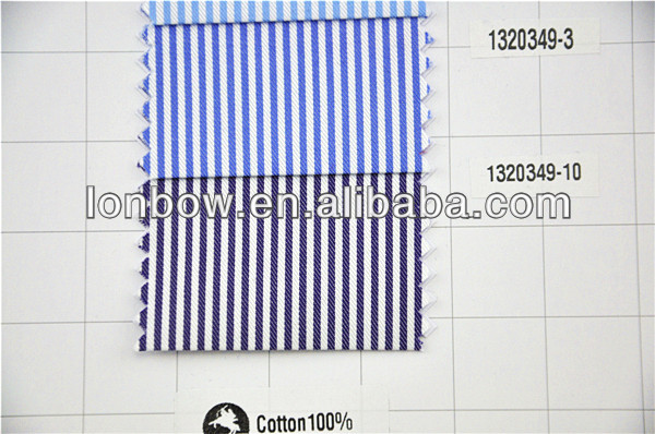 Wholesale High Quality 100 Cotton Red White Stripe Fabric For Top Level Shirts