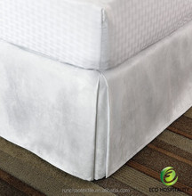 100% Polyester Fire Retardant Hotel Dust Ruffle