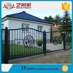 china hot sale decorative garden metal fencing/wrought iron fence parts/wrought iron fence finials