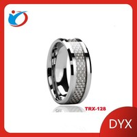 High quality silver tungsten wedding rings made form China rings factory