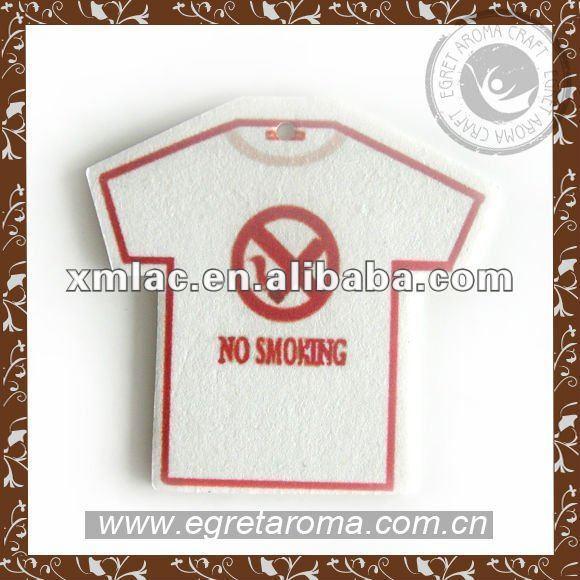 No-smoking shape hanging paper fragrance car perfume card