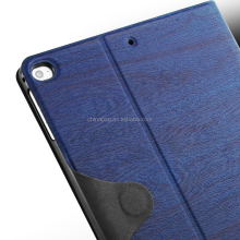 Universal good hand feel Dust-proof tree texture pu leather tablet cover for Apple iPad 6/Ipad 5