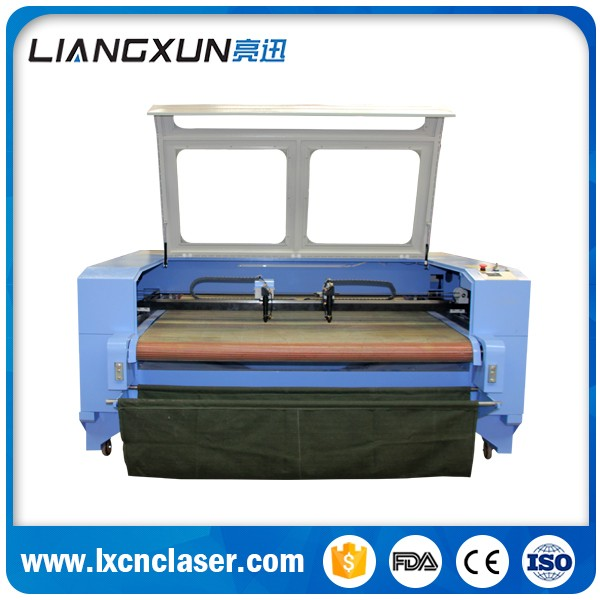 Automatic 80W 100W high power home fabric textile laser cutting machine for sale