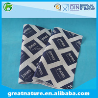 PE coated grease proof food packaging paper for hamburger/sandwich