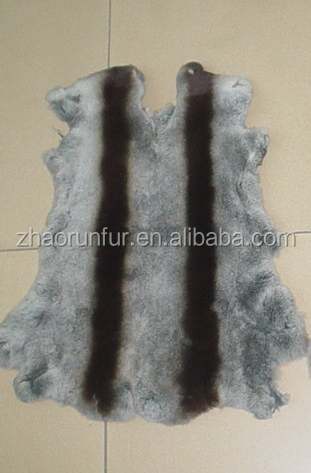 Entertainment Memorabilia Dyed Rabbit Fur Plate For Garments 100% Real Rabbit Fur Rug