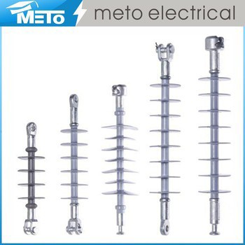 Zhejiang meto supplier 15 kv high voltage fiber glass electrical composite suspension insulator