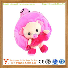 Cute pig plush animal pink backpacks for kids