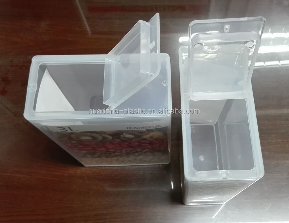 2017 hot sale Kitchen use transparent plastic food package container