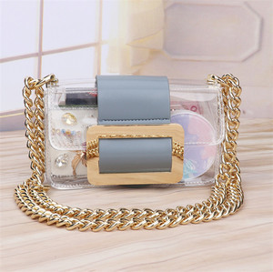 China suppliers jelly bag ladies handbags Hot Sale candy jelly bag transparent clear pvc handbag shoulder crossbody bag women
