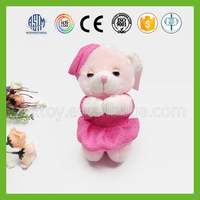 Lovely high quality pink soft 10cm teddy bear for sale