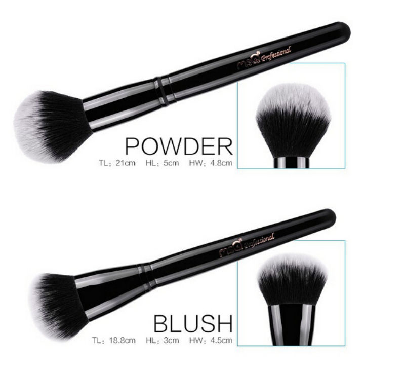 MSQ latest 8pcs synthetic hair Makeup brush with paper box packing wholesale