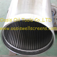 continuous slot stainless steel Johnson well screen/water filter/water well casing pipe