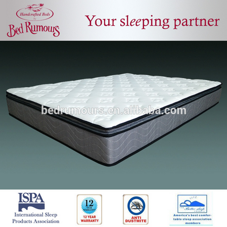 Fashionable Good Quality Sleep Well Spring Bed Room Mattress