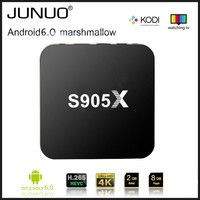 JUNUO Android TV BOX video arabic channel free sex tv 2016 hot selling amlogic s905 android 5.1 ott tv box