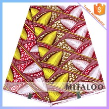 Mitaloo Colorful African Real Wax Prints Fabric For Dressing Cotton Fabric MH3056