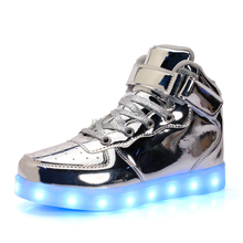 Alibaba Height Incrasing New Products Led Flashing Light Shoe Running Rechargeable For Adult
