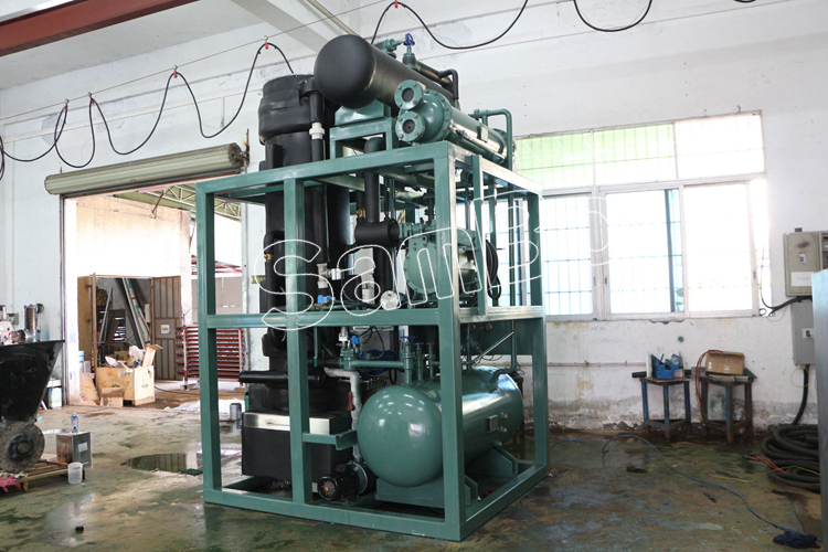 SamBo Factory Price PLC Controlled Bitzer Compressor Tube Ice Plant Machine 10T For Sale