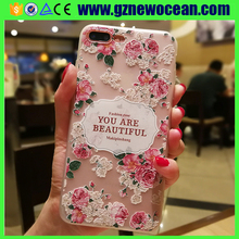 Good quality Customized 3D Relief printing Soft TPU mobile case for OnePlus 5