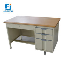 JF-D09 Steel Workplace Table with 3 Vertical Drawers