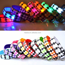 Wholesale DIY personalized fluorescent hunting pet dog collars with name brand dog collars and leashes