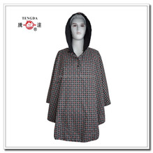 raincoat oem factory double layers fashion polyester printed rain poncho