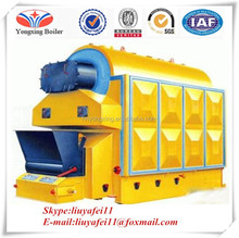 Chain grate stoker wood chips timbers biomass fuels steam boiler DZL type coal fired convenient installation boiler