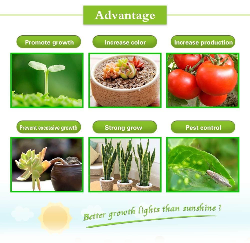 E27 plant grow led Indoor or Desktop Plants LED Grow Light Flexible Lamp LED Plant Growth Light 21W 54W AC85-265V Free shipping (20)