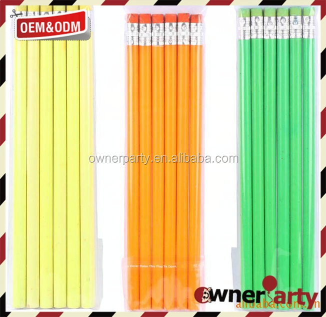 unsharpened pencils 2B customized standard HB Pencil