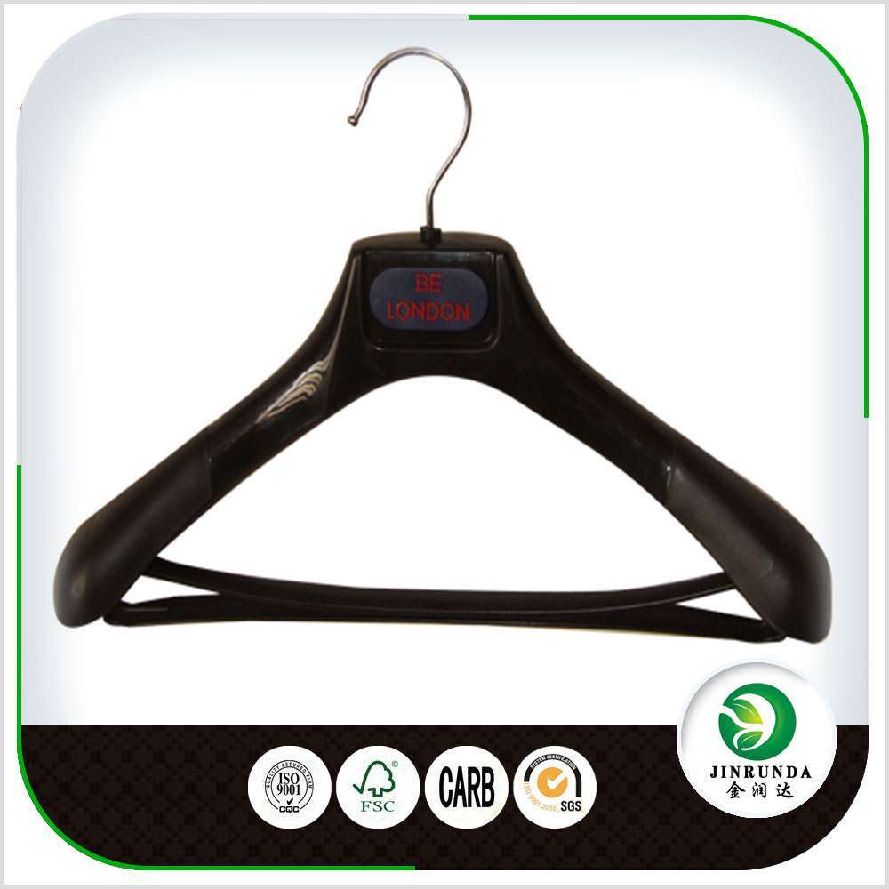 Custom Suit Thick Wide plastic hangers for clothes display hanger