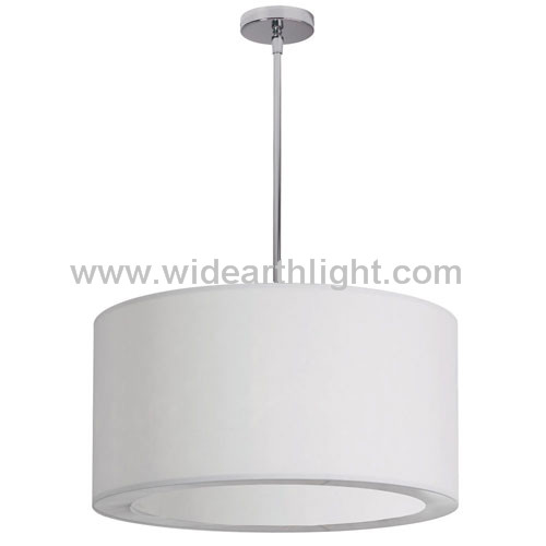 UL Listed Modern Hotel Factory Big Fabric Shades pendant Light Lamp With Acrylic In Bottom C81105