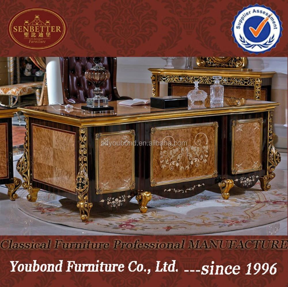 0061 antique office furniture luxury villa office desk - buy