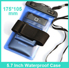 Universal Clear Waterproof Shockproof Pouch Case Underwater Cover for Boating Hiking Camping Fishing Swimming