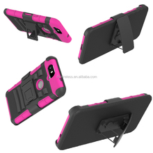 Mobile phone rugged heavy duty plastic silicone combo belt clip holster case for google nexus 7
