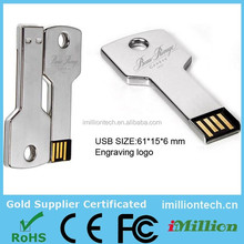 Metal key usb flash memory drive for promotion gifts usb 4.0 flash drive usb key