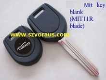 Mit key blank (MIT11R blade); silver logo,with TPX chip space