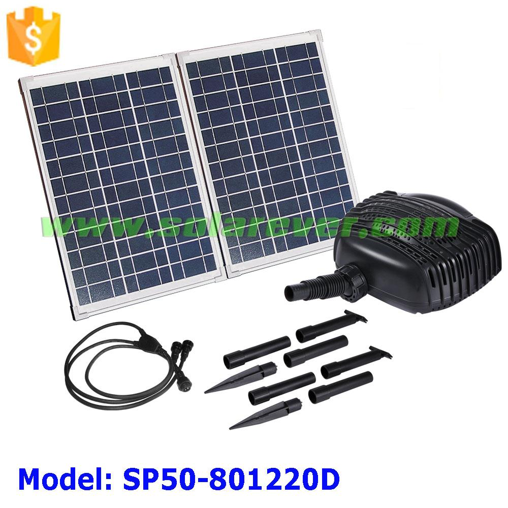Eco-friendly 3.2m head 3400LPH flow rate DC solar stream pump with low water cut off (SP50-801220D)