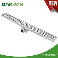 Side outlet flexible linear shower drains