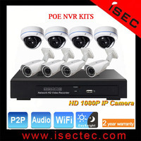 DIY Security system NVR Kit for indoor or outdoor ip camera for house or shop safety reviewing live video by mobile phone