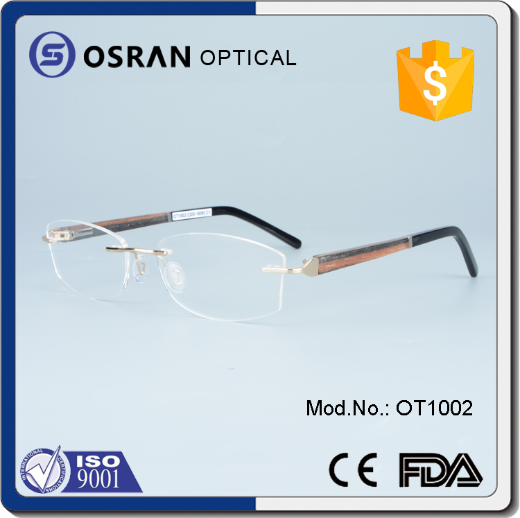 Rimless Frame Latest Optical Frame Gold Titanium Eyeglasses